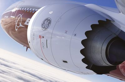 This rendering shows how the 777X might look in flight (Image by The Boeing Co.)