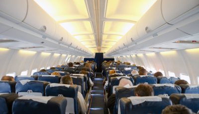 Bacteria can live up to a week on most airplane surfaces. (Photo/File)