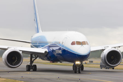 The first Boeing 787 Dreamliner taxied under its own power from the Boeing flight line in Everett onto Paine Field airport in 2009. This is not one of the 11 for sale. (Photo/Boeing)