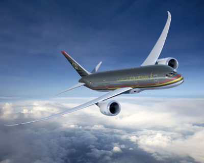 Royal Jordanian will configure its Dreamliner to carry 24 passengers in business class and 246 in economy class. (Photo/Boeing)
