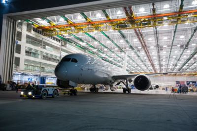 Boeing rolled out its 100th 787 Dreamliner from its North Charleston plant this week. (Photo/Boeing)
