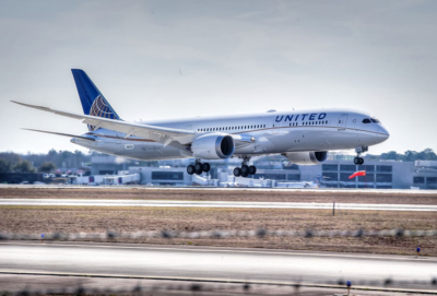 A United 787-9 Dreamliner took a test flight from Boeing South Carolina Monday. (Photo/Brian Calhoun)