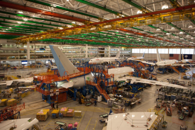Production workers build 787-8 and 787-9 Dreamliners at Boeing South Carolina's North Charleston facilities. (Photo/Kim McManus)