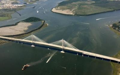 A flight aboard a Cessna 172 offers view of Charleston. (Photo/Liz Segrist)