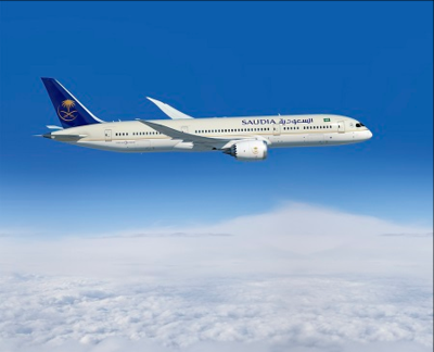 Saudi Arabia's national airline received two 787-9 Dreamliners on Tuesday. (Photo/Boeing)