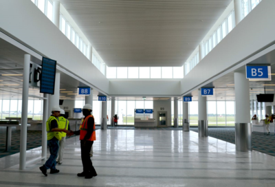 Charleston International Airport is in the midst of a massive terminal renovation to modernize its 1980s-era airport. (Photo/Liz Segrist)